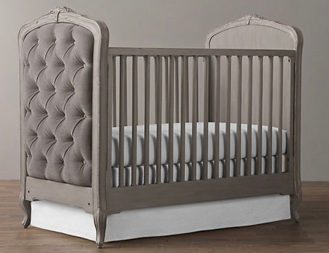 Colette Tufted Crib- Grey