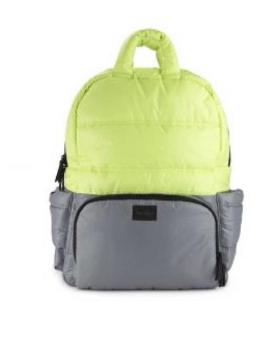 BK718 Diaper Bag - Neon Lime/Cement