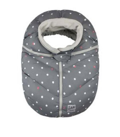 Car Seat Cacoon- Grey Dots