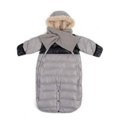 Doudoune 100 Small (0-3 M) Grey/black (New in Box)
