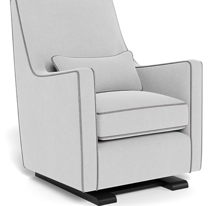 Luca Glider - Ash Grey/Pebble Grey Piping