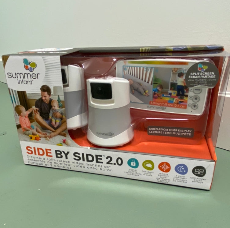 Side By Side 2.0 2-Camera Split-Screen Video Monitor Set