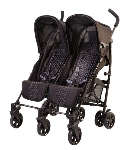 Twice Double Stroller Black (New Open Box)