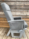 Glider + Ottoman- Heathered Grey (Custom Color)