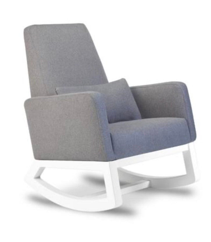 Joya Rocker- Pebble Grey/White (Floor Model)