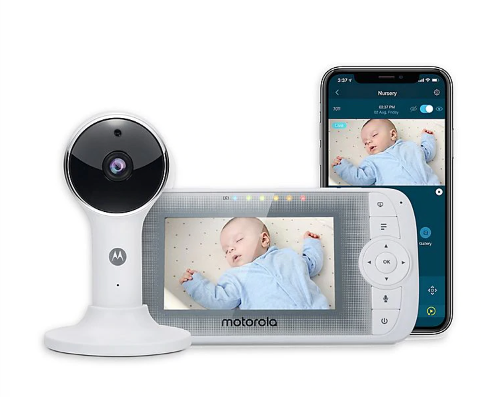 LUX64 CONNECT 4.3-Inch Color LCD WiFi Video Monitor in White