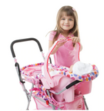 Toy Car Seat Baby Doll Carrier - Pink