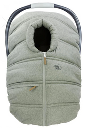 Winter Baby Car Seat Cover - Light Grey Wool