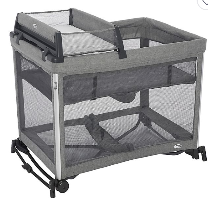 3-in-1 Open Air Portable Crib with Breathable Mesh Mattress