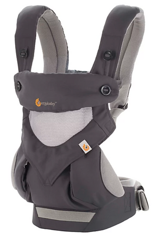 360 Cool Air Mesh Multi-Position Baby Carrier- Carbon Grey
