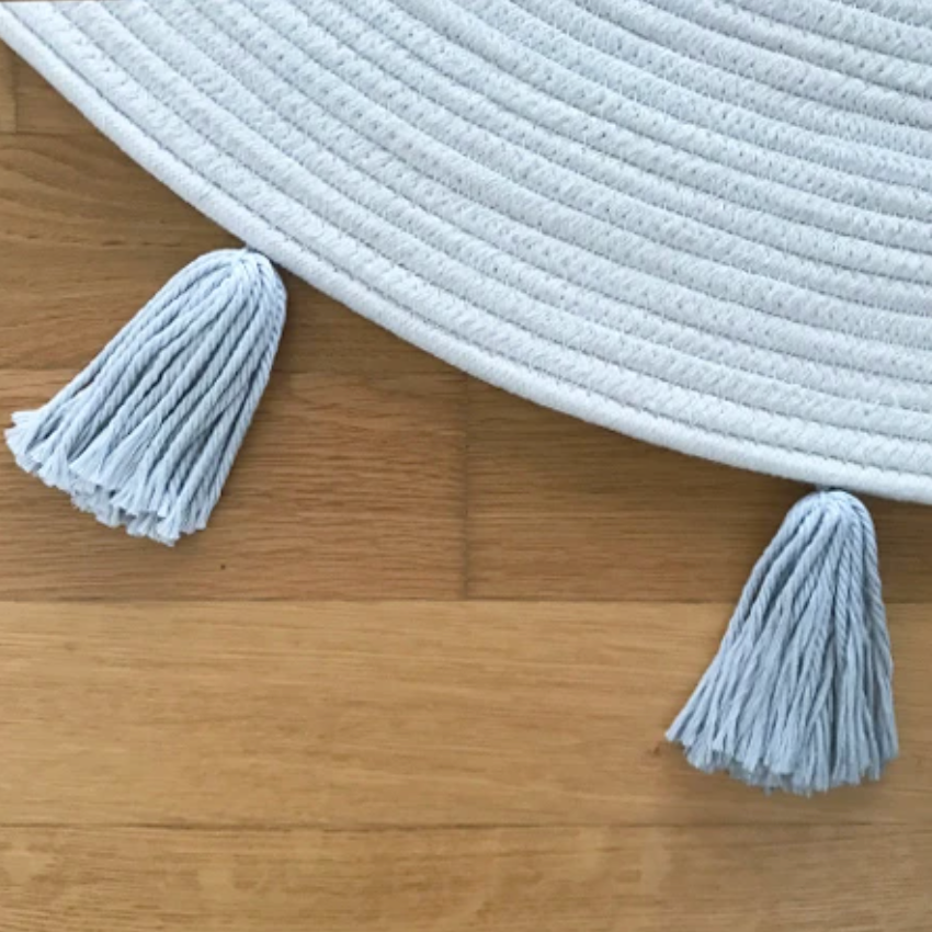 Tassel Rope Rug - Grey