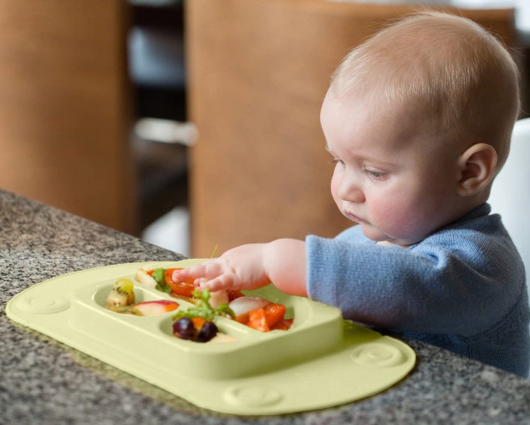 EasyMat Mini Portable Baby Suction Plate - Olive