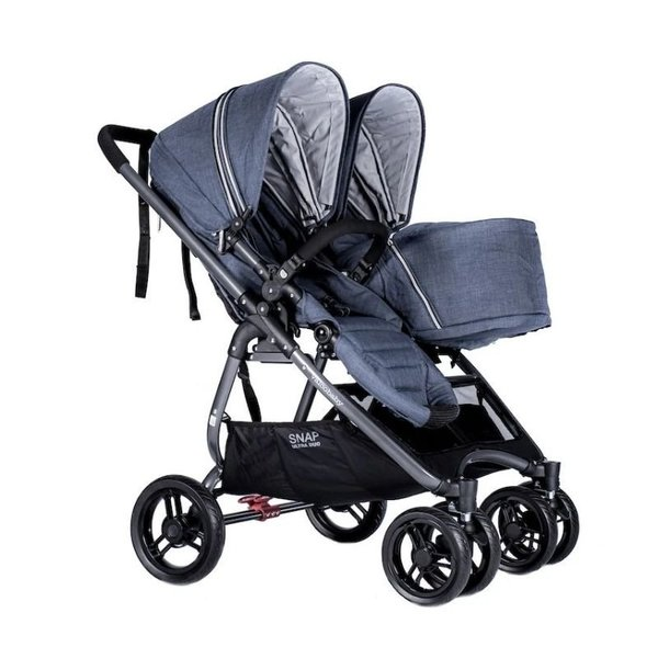 Baby Snap Ultra Duo Double Stroller - Denim