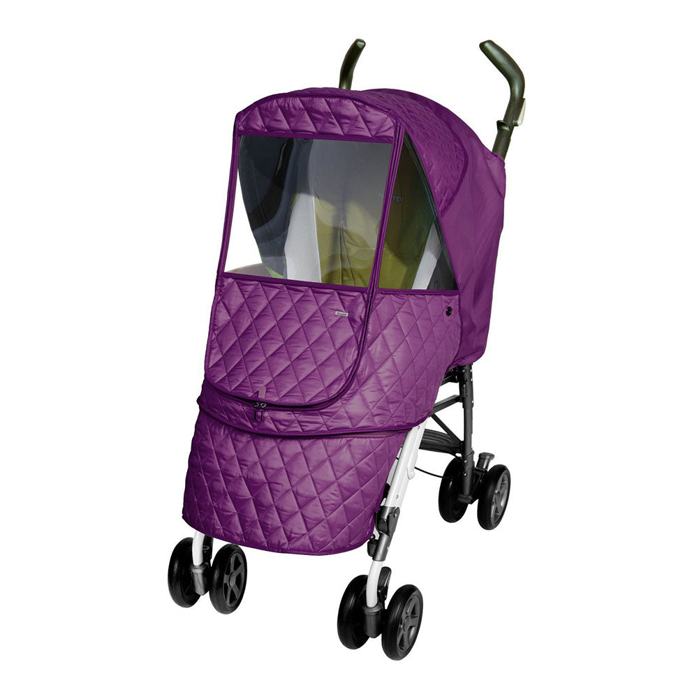 Castle Alpha Quilted Stroller Weather Shield - Purple