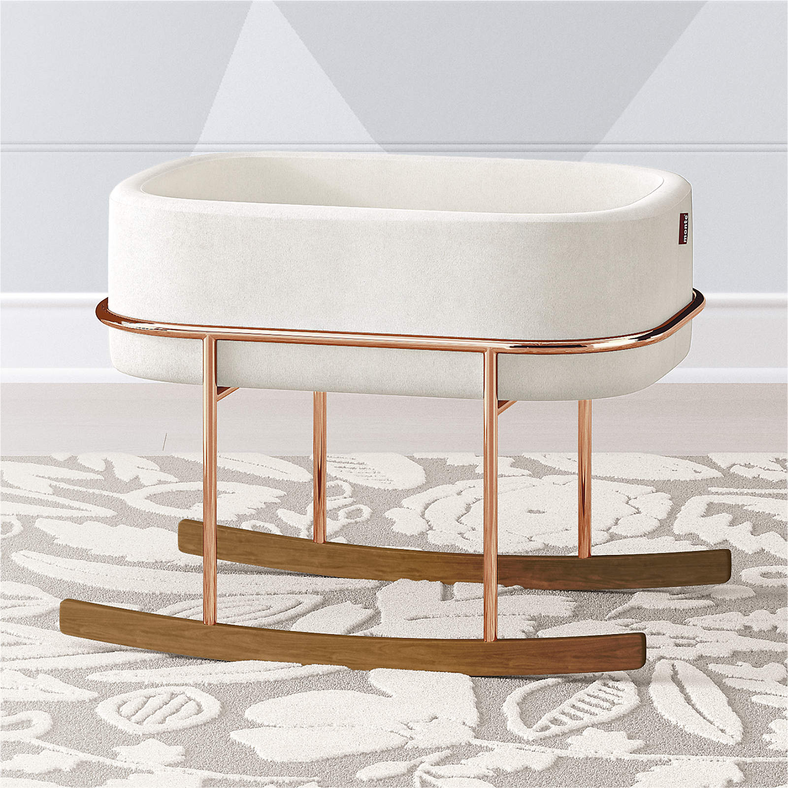 Rockwell Bassinet - Stone/Copper/Walnut