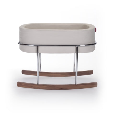 Rockwell Bassinet- Stone/Chrome/Walnut (Open Box)
