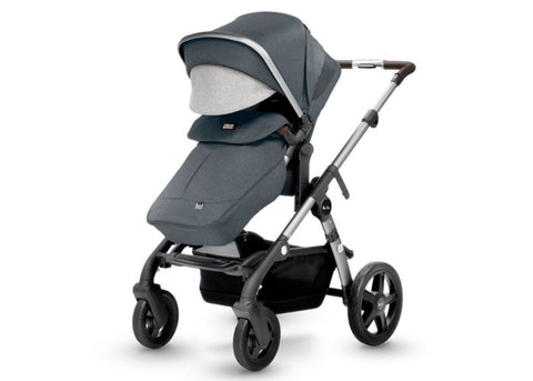 Wave Stroller + Bassinet + Foot Muff + Diaper Bag - Slate
