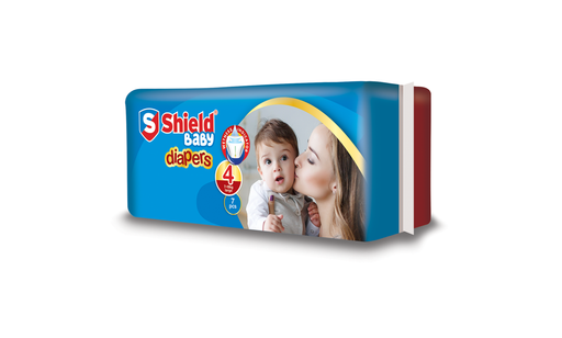 Pamper Shield Diapers Large 4(7)