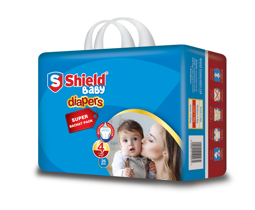 Pamper Shield Diaper Sb Large 4(26)