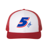 "The ""Big Five"" Trucker Hat - White/Red"