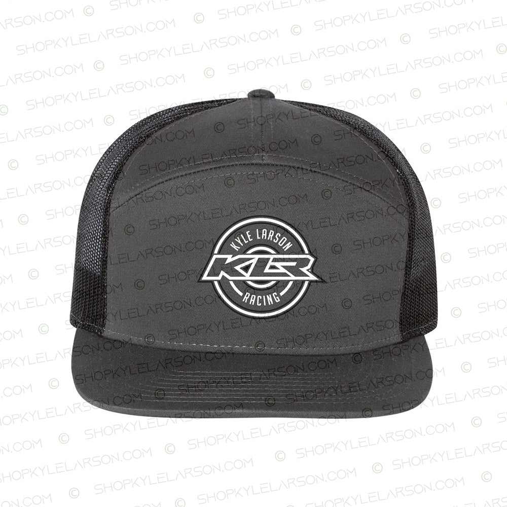 KLR Badge | Charcoal/Black 7-Panel Snapback