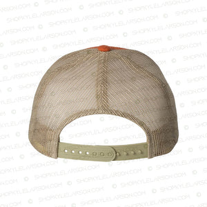 KLR Badge | Orange / Khaki 6-panel Snapback