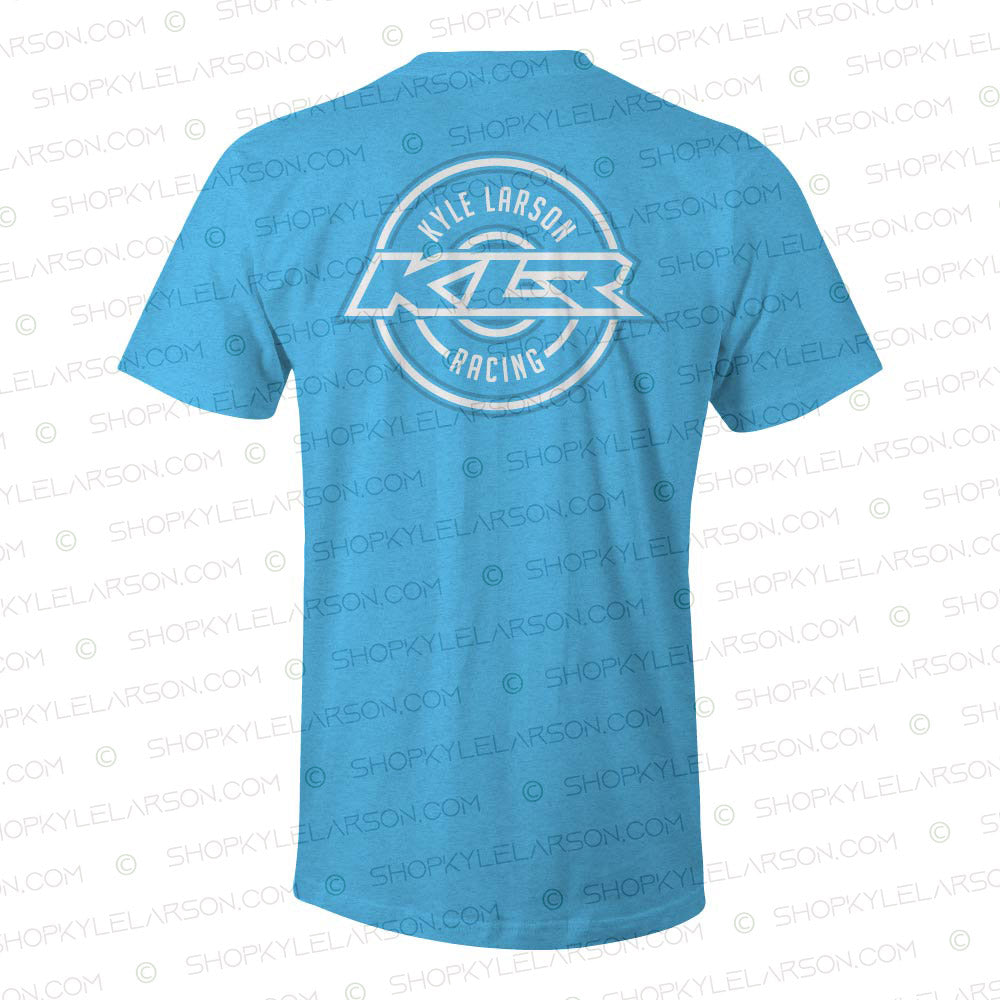 KLR Badge | Turquoise Heather Tee Shirt
