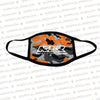 KLR | Orange Camo Face Mask