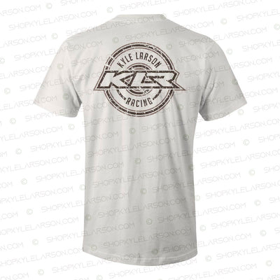 "KLR Badge | ""Dirty"" Natural Tee Shirt"