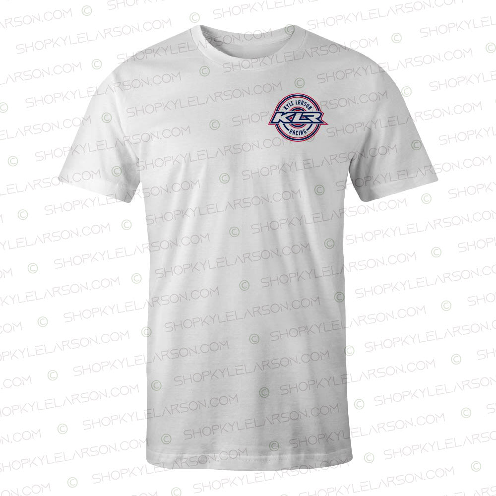 "KLR Badge | White ""USA"" Tee Shirt"