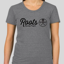 Load image into Gallery viewer, Classic Roots Tee (unisex and women's cuts) - oatmeal and gray.