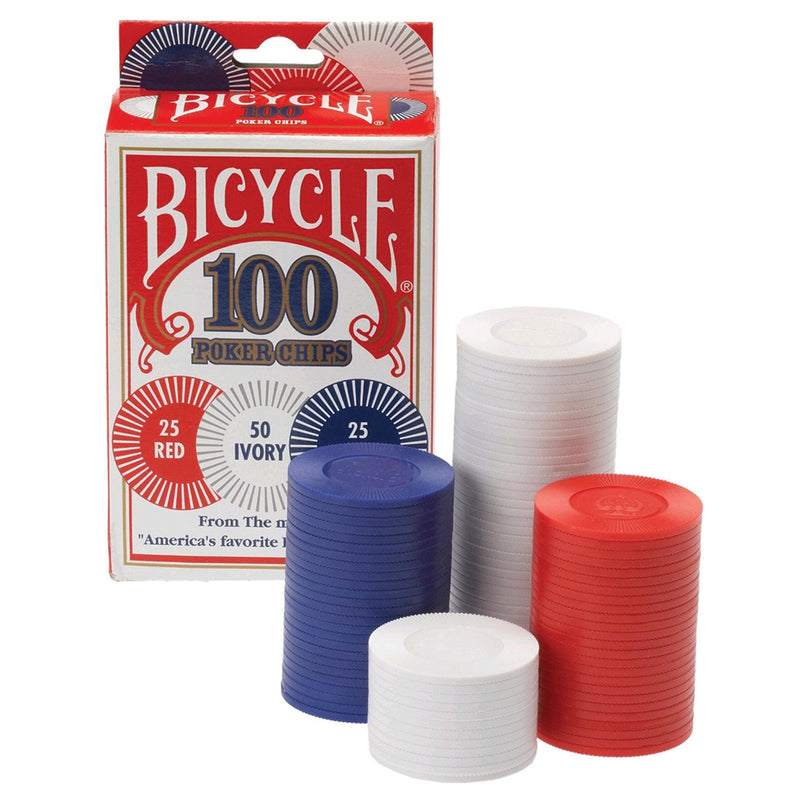 Poker Chips Bicycle 2 Gram Plastic Chips 100 Count Plastic Chip - პოკერის ჩიპები