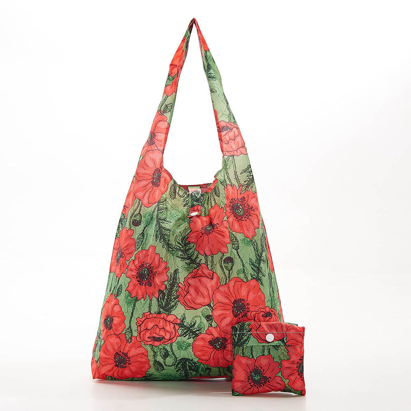 Green Poppies Shopper - შოპერი
