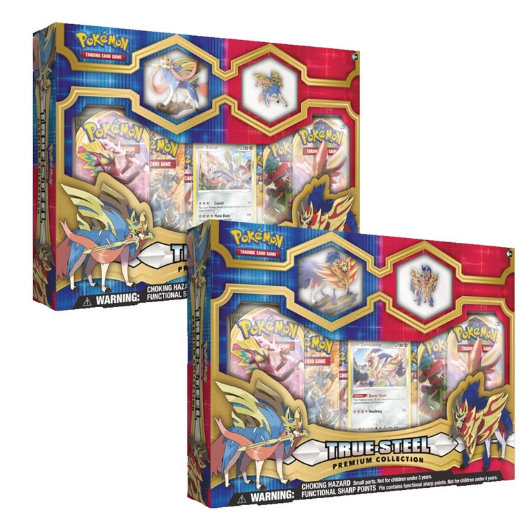 POK TCG True Steel Premium Figure & Pin Collection სამაგიდო თამაში