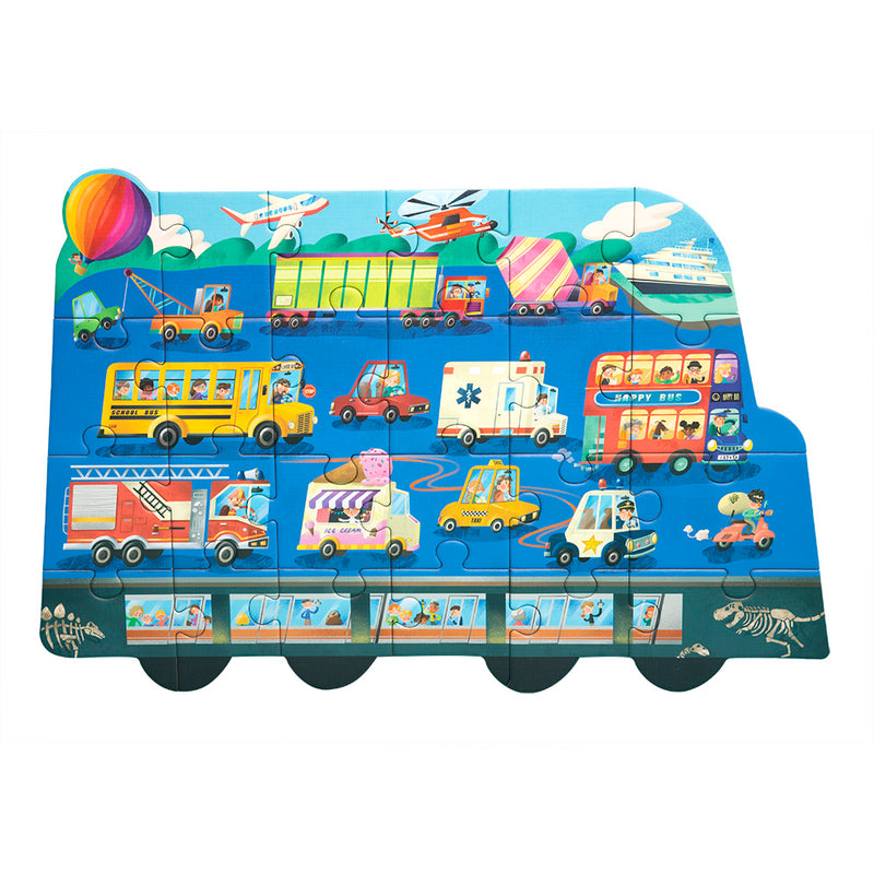 Means of Transportation: Puzzle 3 in 1! Transportation - ფაზლი