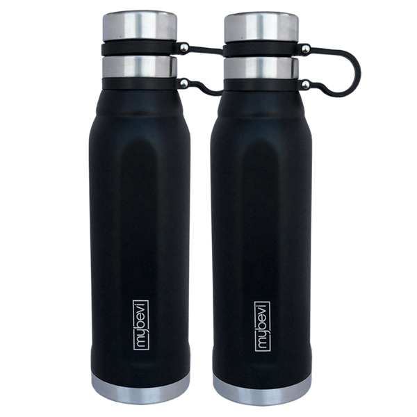 MyBevi 25 oz. Quatro Sport Bottle (2 Pack - Black)