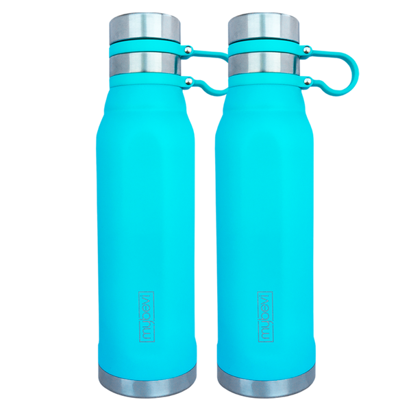MyBevi 25 oz. Quatro Sport Bottle (2 Pack - Turquoise)