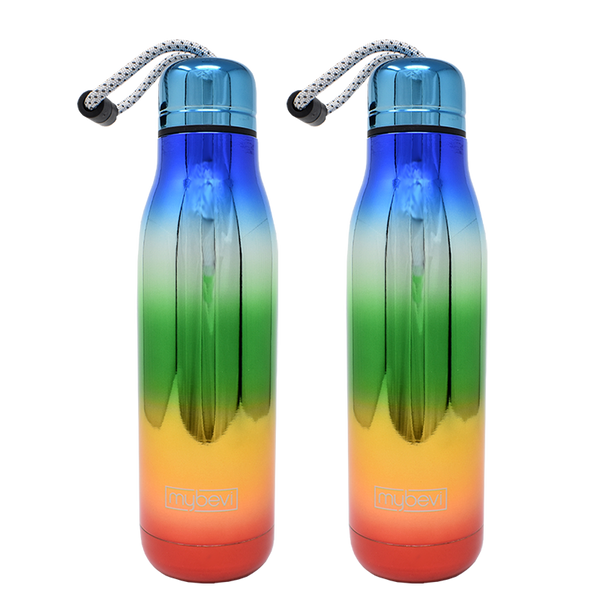 MyBevi 18 oz. Bali Hydration Bottle (2 Pack - Rainbow)