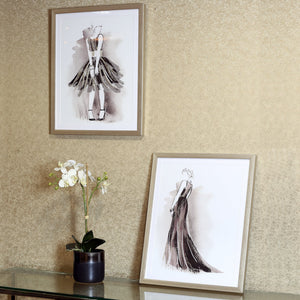2pc Figurative Glitter Framed Print