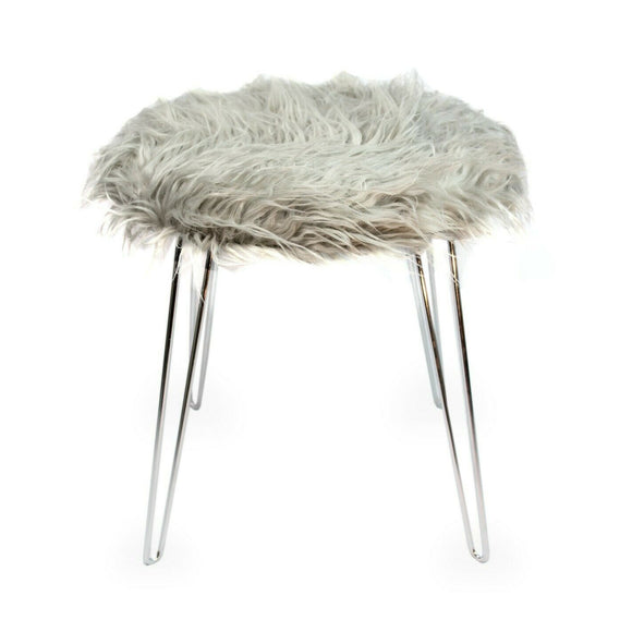 Narvik Faux Fur Stool
