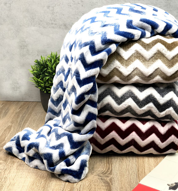 Chevron Super Soft Fleece Throw