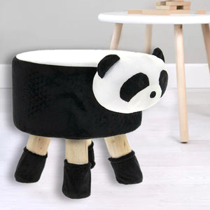 Kids Novelty Plush Panda Stool