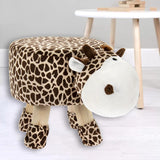 Kids Novelty Plush Giraffe Stool