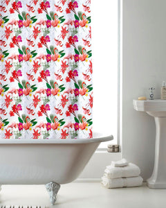 Flamingo Tropical Shower Curtain Set