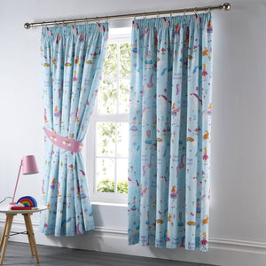 Kids Club Magical Unicorn Bedroom Curtains
