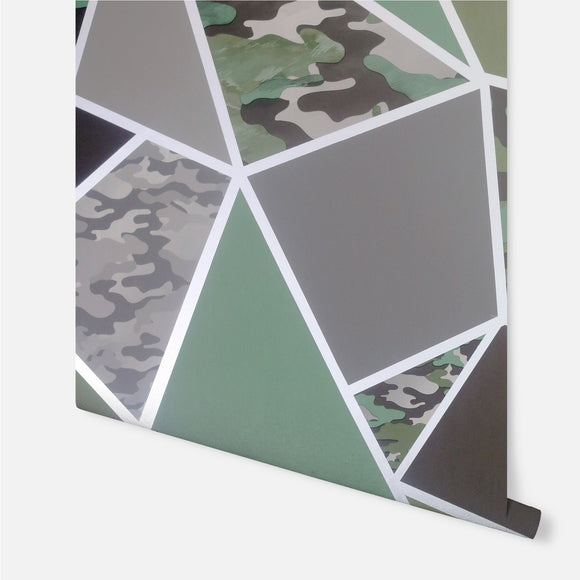 Camo Fragments Wallpaper