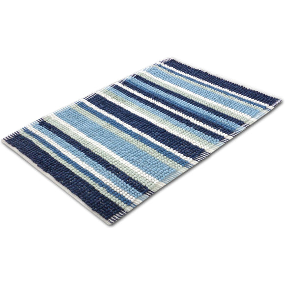 Micro Bobble Stripe Bath Mat