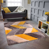 3D Carved Blazon Rug