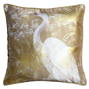 Crane Metallic Gold Cushion