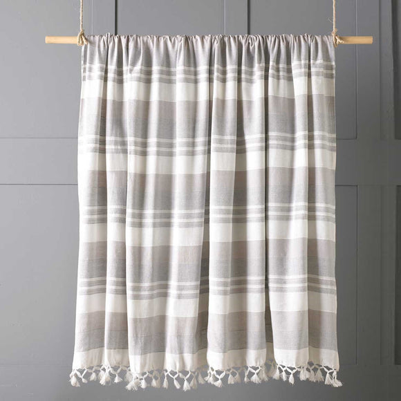 Carella Stripe Cotton Throw